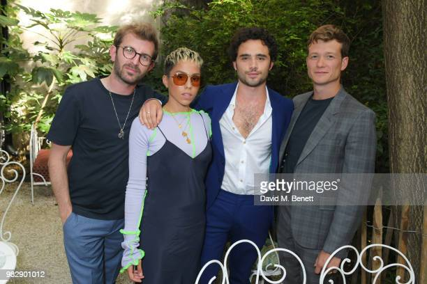 Hayden Kays Poppy Ajudha Toby Sebastian and Ed Speleers all wearing Paul Smith attends the Paul Smith SS19 VIP dinner during Paris Fashion Week at...