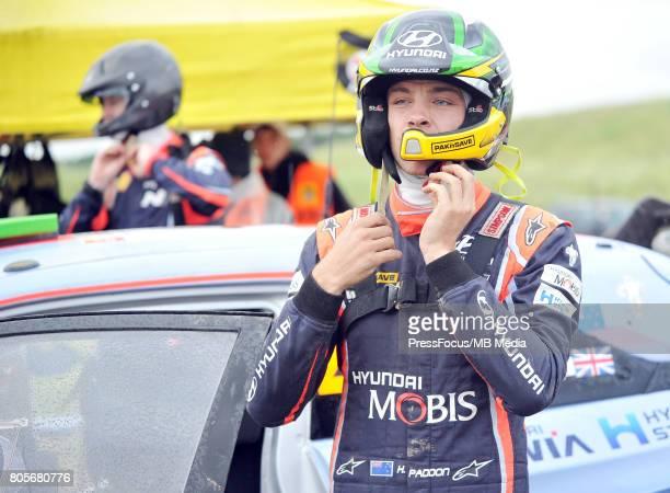 Hayden Paddon NZL Hyundai Motorsport during the WRC Orlen 74 Rally Poland on June 30 2017 in Mikolajki Poland