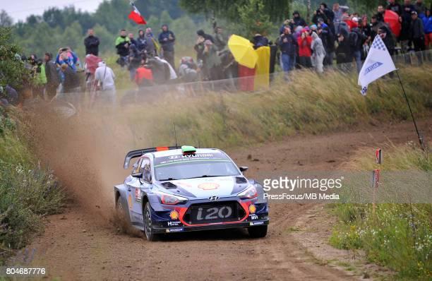 Hayden Paddon NZL Sebastian Marshall GBR Hyundai Motorsport during the WRC Orlen 74 Rally Poland on June 29 2017 in Mikolajki Poland