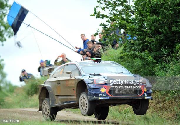 Hayden Paddon NZL Sebastian Marshall GBR Hyundai Motorsport during the WRC Orlen 74 Rally Poland on July 02 2017 in Mikolajki Poland