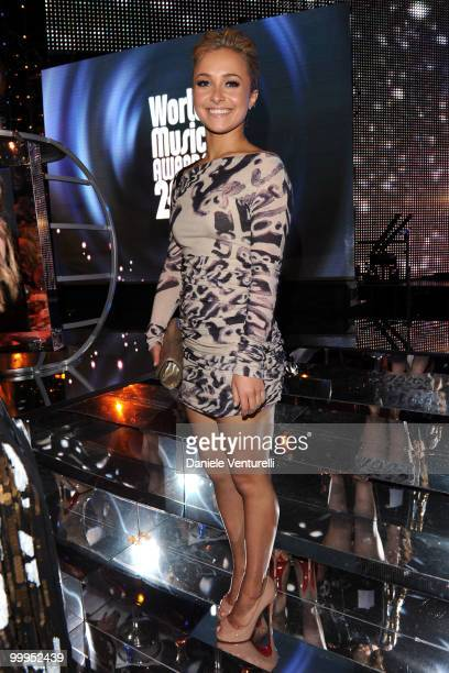 Hayden Panetierre attends the World Music Awards 2010 at the Sporting Club on May 18 2010 in Monte Carlo Monaco