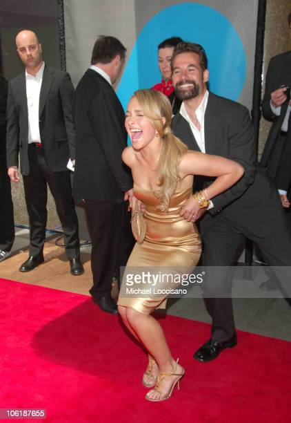 Hayden Panettiere and Adrian Pasdar during NBC 20072008 Primetime Preview Red Carpeti Upfronts Arrivals at Radio City Music Hall in New York City New...