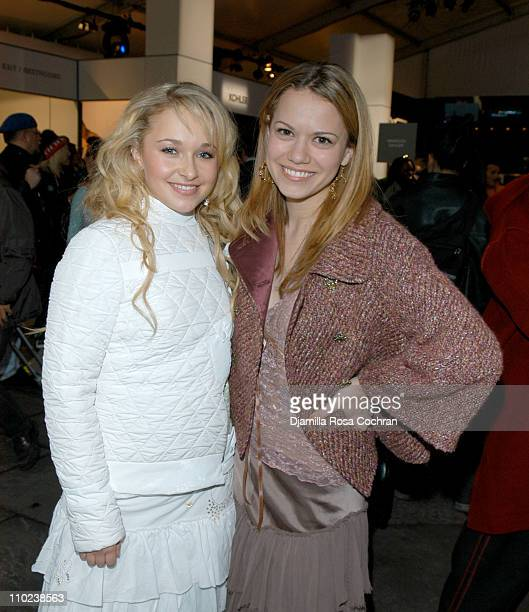 Hayden Panettiere and Bethany Joy Lenz during Olympus Fashion Week Fall 2005 Seen at Bryant Park Day 4 at Bryant Park in New York City New York...