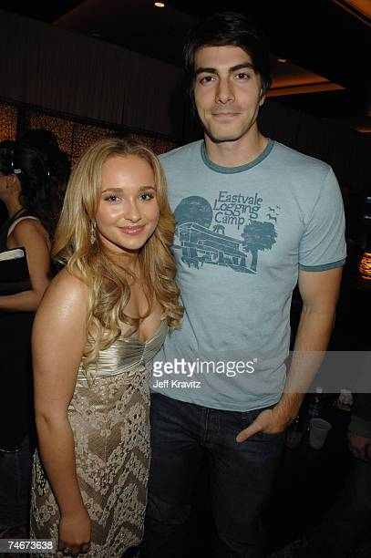 Hayden Panettiere and Brandon Routh at the Spike TV's 2006 Video Game Awards Hosted By Samuel L Jackson Backstage and Audience at The Galen Center in...
