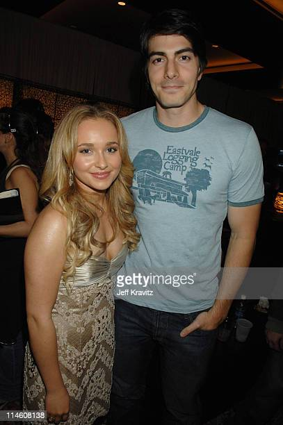 Hayden Panettiere and Brandon Routh during Spike TV's 2006 Video Game Awards Hosted By Samuel L Jackson Backstage and Audience at The Galen Center in...