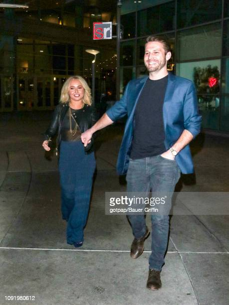 Hayden Panettiere and Brian Hickerson are seen on January 31 2019 in Los Angeles California