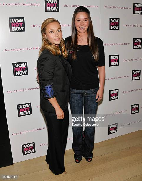 Hayden Panettiere and Bristol Palin attends The Candie's Foundation Town Hall Meeting on Teen Pregnancy Prevention at TheTimesCenter on May 6 2009 in...
