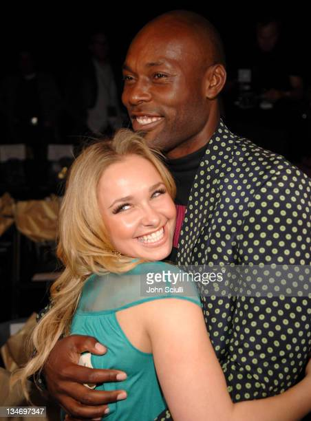 Hayden Panettiere and Jimmy JeanLouis front row at Kevan Hall Fall 2007