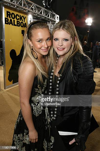 Hayden Panettiere and Natalie Maines during MGM Pictures Columbia Pictures and Revolution Studios present the World Premiere of 'Rocky Balboa' at...