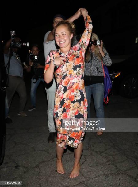 Hayden Panettiere is seen on August 2 2018 in Los Angeles CA