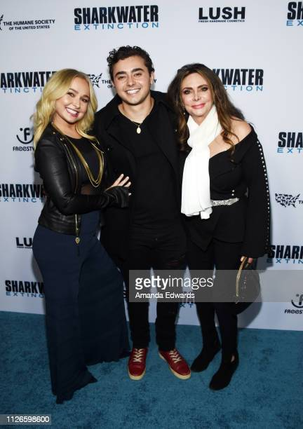 Hayden Panettiere Jansen Panettiere and Lesley Vogel arrive at a screening of Freestyle Releasing's Sharkwater Extinction at the ArcLight Hollywood...