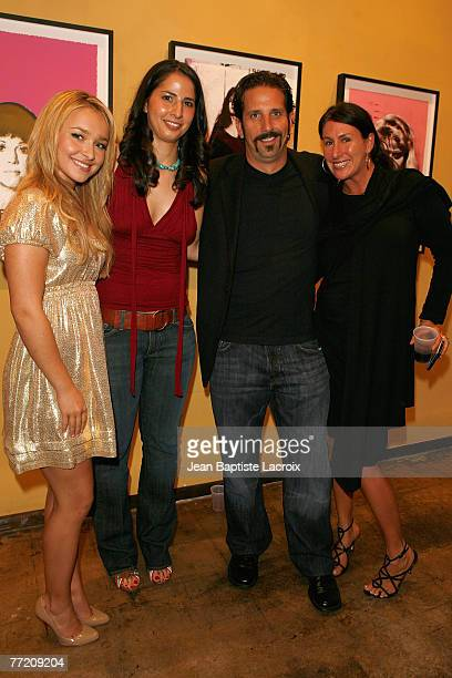 VENICE CA OCTOBER 05 Hayden Panettiere Rachel Schmeidler an unidentified guest and Stacy Krajchir attend the Hollywood Most Wanted Art Show hosted by...