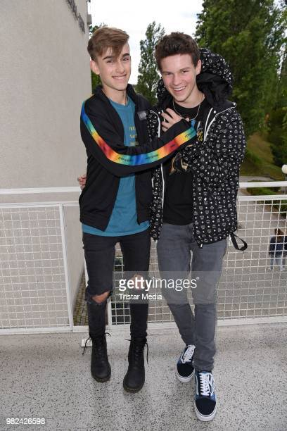 Hayden Summerall and Johnny Orlando during the YOU Summer Festival 2018 on June 23 2018 in Berlin Germany