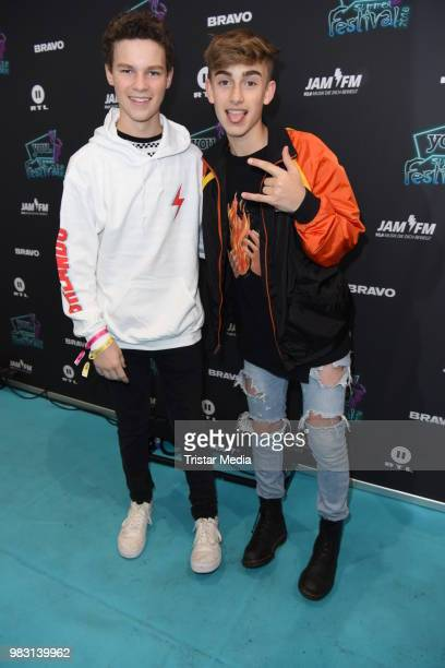 Hayden Summerall and Johnny Orlando during the YOU Summer Festival 2018 on June 24 2018 in Berlin Germany