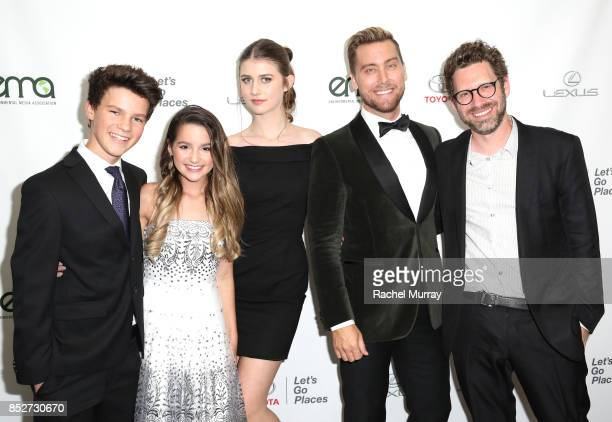 Hayden Summerall Annie LeBlanc Brooke Butler Lance Bass and EMA Executive director of Business Development Asher Levin at the Environmental Media...