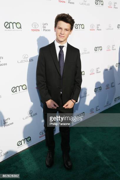 Hayden Summerall at the Environmental Media Association's 27th Annual EMA Awards at Barkar Hangar on September 23 2017 in Santa Monica California