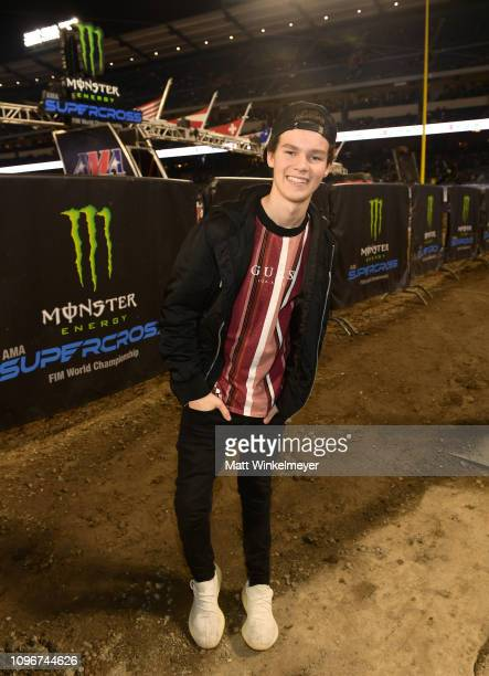 Hayden Summerall attends Monster Energy Supercross Celebrity Night at Angel Stadium on January 19 2019 in Anaheim California