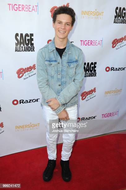 Hayden Summerall attends 'Sage Alexander The Dark Realm' Launch Party Cohosted by Innersight Entertainment and TigerBeat Media at El Rey Theatre on...