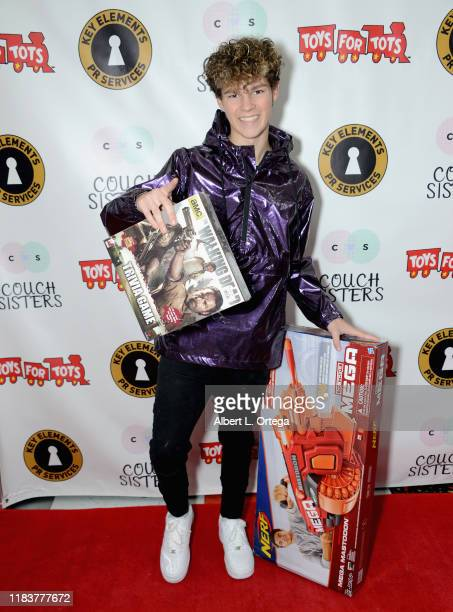 Hayden Summerall attends The Couch Sisters 1st Annual Toys For Tots Toy Drive held onNovember 20 2019 in Glendale California