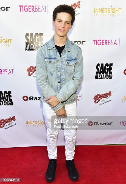 Hayden Summerall attends the Sage Launch Party CoHosted by Tiger Beat at El Rey Theatre on July 14 2018 in Los Angeles California