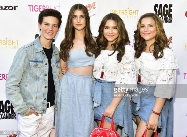 Hayden Summerall Brooke Butler Bianca D'Ambrosio and Chiara D'Ambrosio attend the Sage Launch Party CoHosted by Tiger Beat at El Rey Theatre on July...