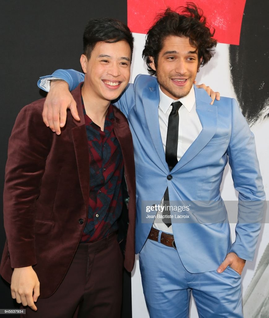 Hayden Szeto and Tyler Posey attend the premiere of Universal Pictures' 'Truth Or Dare' on April 12, 2018 in Hollywood, California.