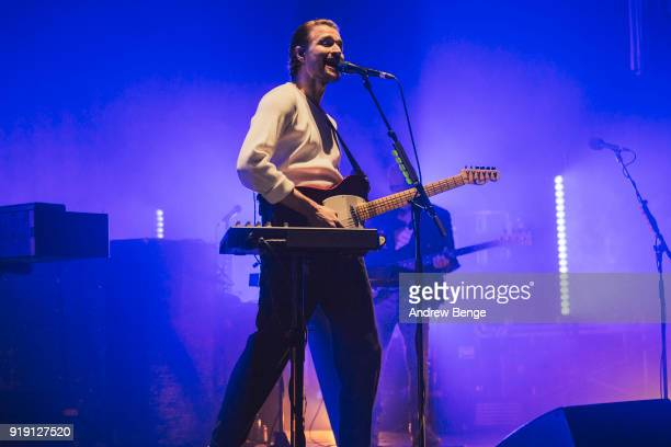 Hayden Thorpe of Wild Beasts performs at O2 Apollo Manchester on February 16 2018 in Manchester England