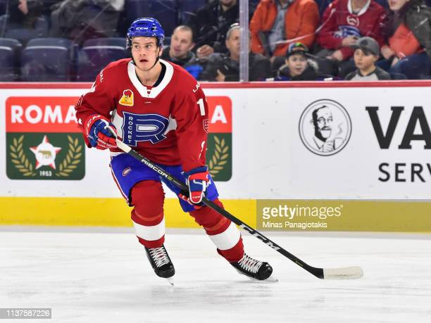 Hayden Verbeek of the Laval Rocket skates during the warmup against the Providence Bruins prior to the AHL game at Place Bell on March 20 2019 in...