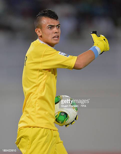 Hayder Mohammed of Iraq in action during the FIFA U17 World Cup group F match between Iraq and Sweden at Khalifa Bin Zayed Stadium on October 19 2013...