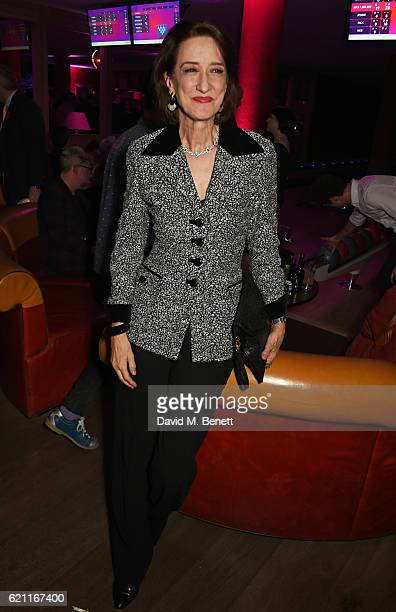 Haydn Gwynne attends the press night after party celebrating The Old Vic's production of King Lear at the Ham Yard Hotel on November 4 2016 in London...