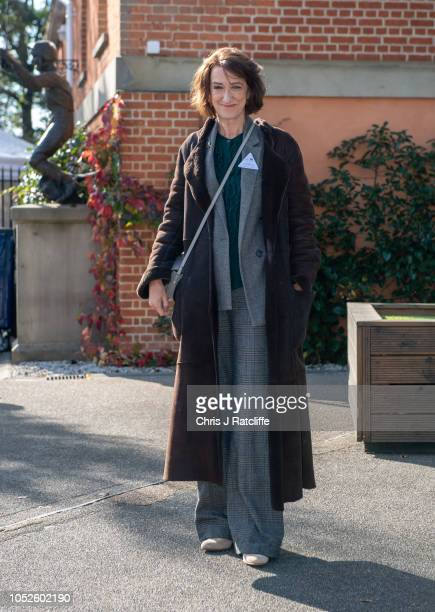 Haydn Gwynne attends the QIPCO British Champions Day at Ascot Racecourse on October 20 2018 in Ascot England