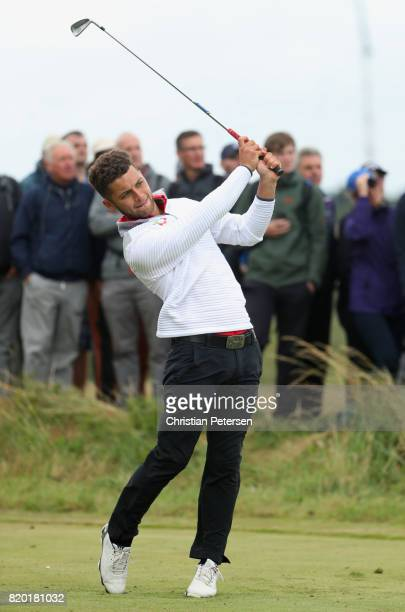 Haydn McCullen of England tees off on the 14th hole during the second round of the 146th Open Championship at Royal Birkdale on July 21 2017 in...