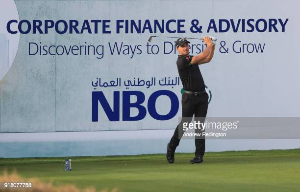 Haydn Porteous of South Africa in action during the Pro Am prior to the start of the NBO Oman Open at Al Mouj Golf on February 14 2018 in Muscat Oman