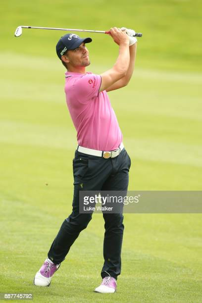 Haydn Porteous of South plays a shot on the 6th hole during the first day of the Joburg Open at Randpark Golf Club on December 7 2017 in Johannesburg...