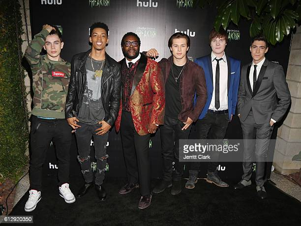 """Hayes Grier, Melvin Gregg, Chad L. Coleman, Leo Howard, Adam Hicks and Tyler Chase attend the Premiere Of Hulu's """"Freakish"""" - Arrivals at Smogshoppe..."""