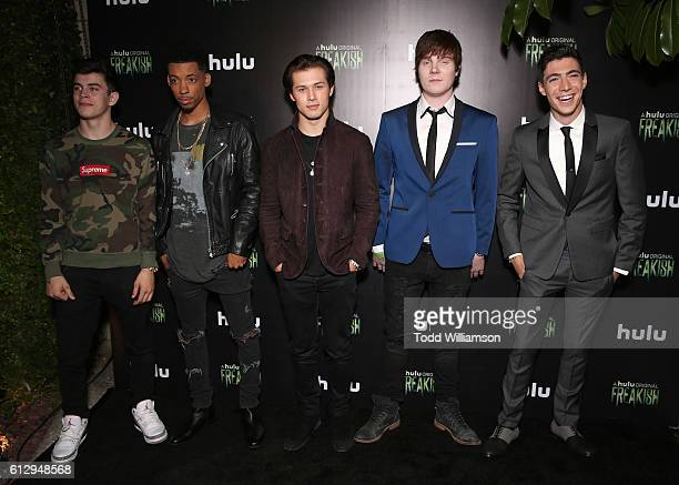 Hayes Grier Melvin Gregg Chad L Coleman Leo Howard Adam Hicks and Tyler Chase attend Hulu Original 'Freakish' Premiere at Smogshoppe on October 5...