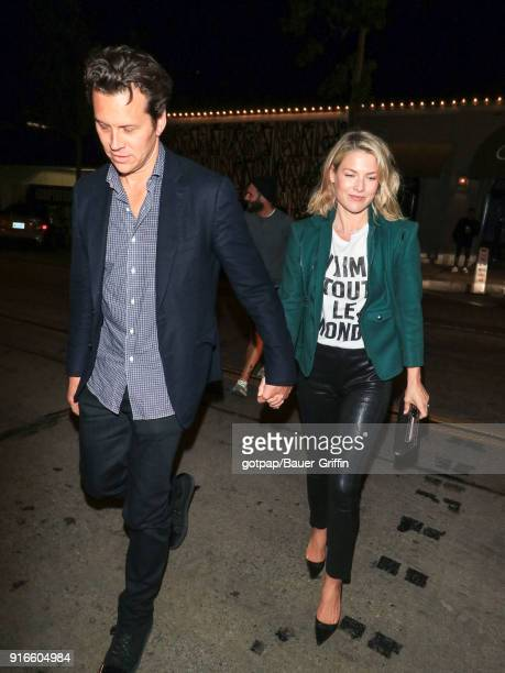 Hayes MacArthur and Ali Larter are seen on February 09 2018 in Los Angeles California