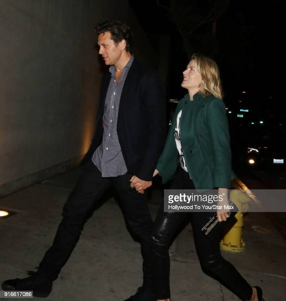 Hayes MacArthur and Ali Larter are seen on February 9 2018 in Los Angeles California