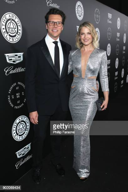 Hayes MacArthur and Ali Larter attend The Art Of Elysium's 11th Annual Celebration with John Legend at Barker Hangar on January 6 2018 in Santa...