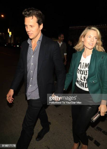 Hayes MacArthur and Ali Larter is seen on February 9 2018 in Los Angeles California