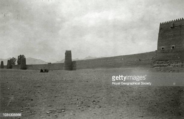 Hayil the walls Saudi Arabia circa 1934