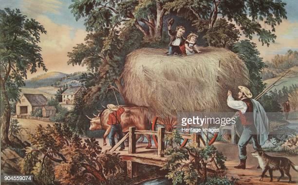 HayingtimeThe Last Load pub 1868 Currier Ives