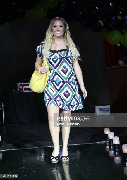 Hayley Amber Hasselhoff models in the Celebrity Catwalk For Charity at The Highlands on August 16 2007 in Los Angeles California