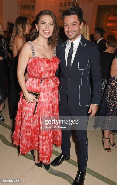 Hayley Atwell and Dominic Cooper attend Harper's Bazaar Women of the Year Awards in association with Ralph Russo Audemars Piguet and MercedesBenz at...