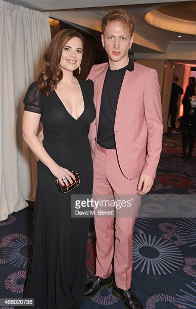 Hayley Atwell and Evan Jones attend the Jameson Empire Awards 2015 at Grosvenor House on March 29 2015 in London England