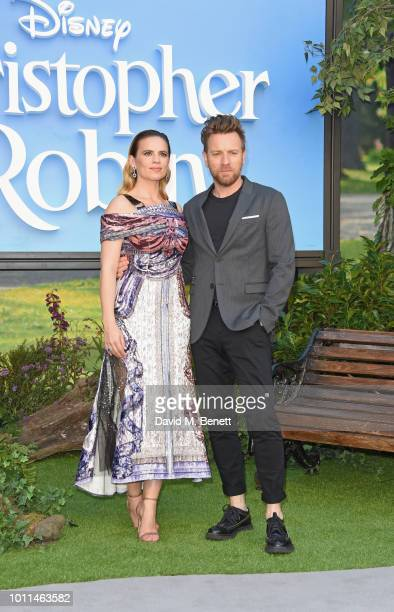 Hayley Atwell and Ewan McGregor attend the European Premiere of Christopher Robin at the BFI Southbank on August 5 2018 in London England