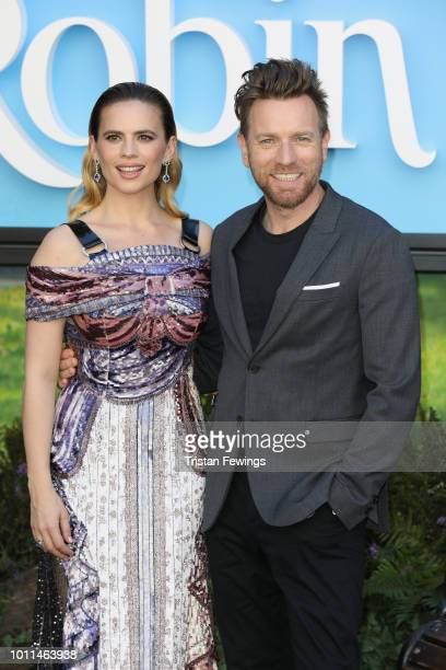 Hayley Atwell and Ewan McGregor attend the European Premiere of 'Christopher Robin' at BFI Southbank on August 5 2018 in London England