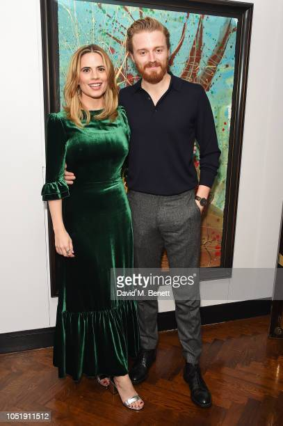 Hayley Atwell and Jack Lowden attend the press night after party for Measure for the Measure at The Hospital Club on October 11 2018 in London England