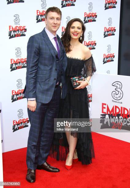 Hayley Atwell and Joe Lycett attend the THREE Empire awards at The Roundhouse on March 19 2017 in London England