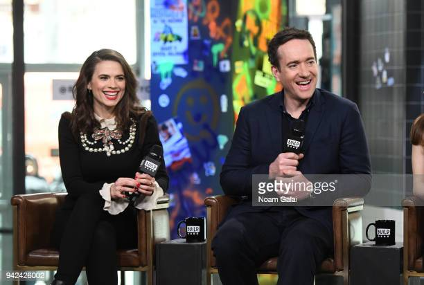 Hayley Atwell and Matthew Macfadyen visit Build Series to discuss Howards End at Build Studio on April 5 2018 in New York City